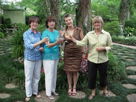 Lafayette artist Mary Beyt; artist and hostess Mary Perrin; Bella Meyer; Rene Roberts, Acadiana Center for the Arts.
